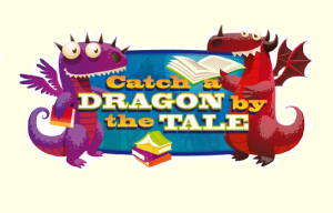 dragons holding books with caption Catch a dragon by the tale