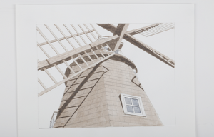 Art by Dennis Coburn, windmill