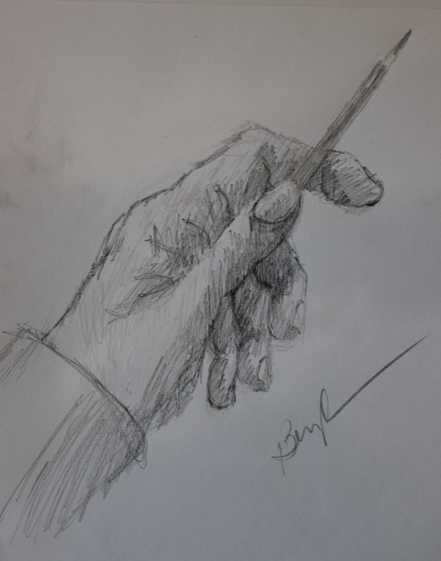 Sketch - hand - by Marlene Bezich