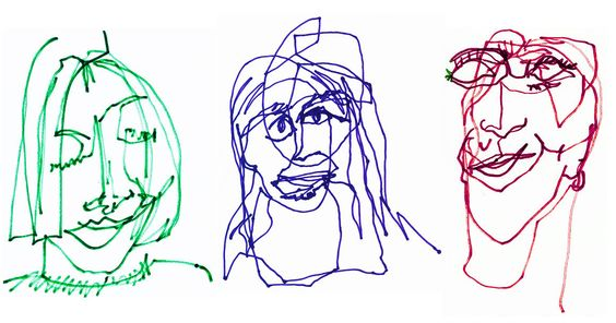 Blind Contour Portraits