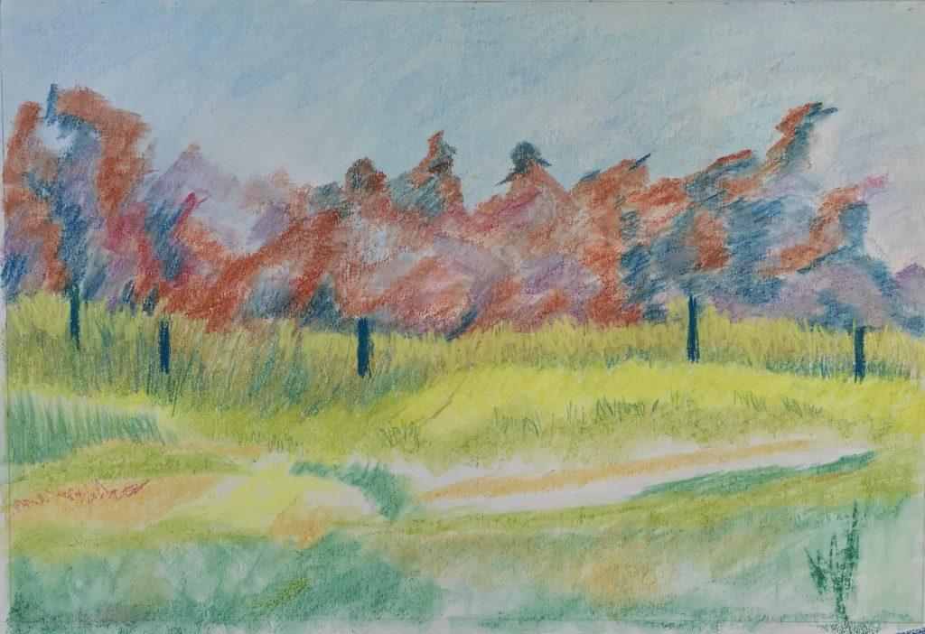 Blurry Trees Pastel - Lorena Doherty