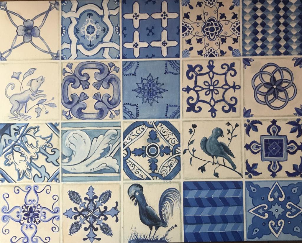 Portugal Canvas Board - Gena Vaccarello