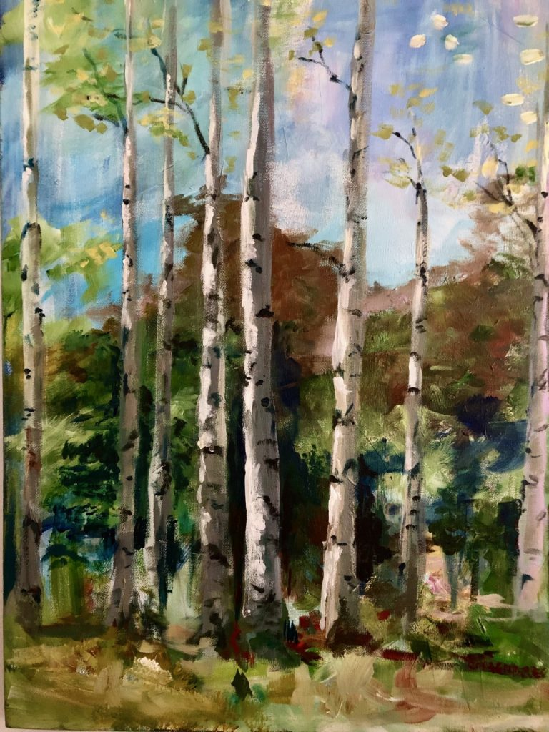 Birch Trees by Maire Camenares