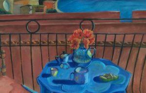 Delia's Caffe'-Art by Eileen Butler
