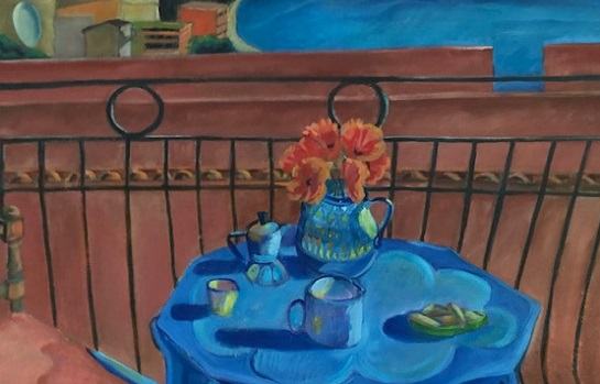 """Art Exhibit: """"Travelissima"""" Drawings,  Paintings, Mosaics by Eileen Butler"""
