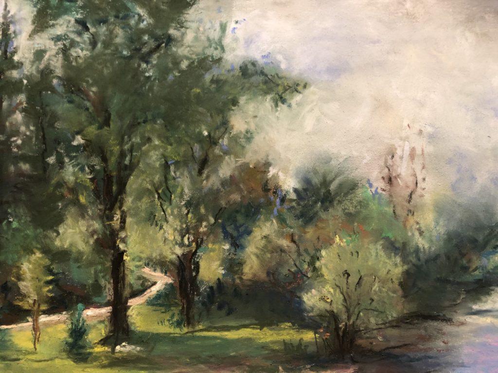 Pastel Landscape by Maire Camenares